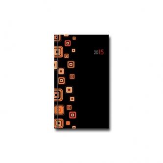 D - Minidiár PROFI - čierno/oranžový