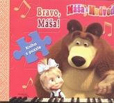 Máša a medveď - Bravo, Máša! - kniha s puuzle