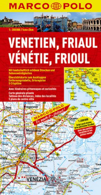 Marco Polo Karte Venetien, Friaul, Gardasee. Vénétie, Frioul, Lac de Garde. Veneto, Friuli, Lago di Garda. Venezia, Giulia, Lagi