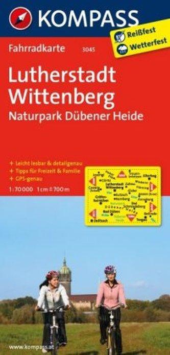 Kompass Fahrradkarte Lutherstadt Wittenberg, Naturpark Dübener Heide