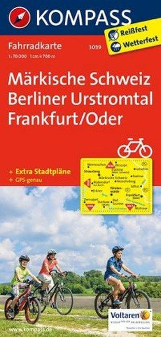 Kompass Fahrradkarte Märkische Schweiz, Berliner Urstromtal, Frankfurt/Oder