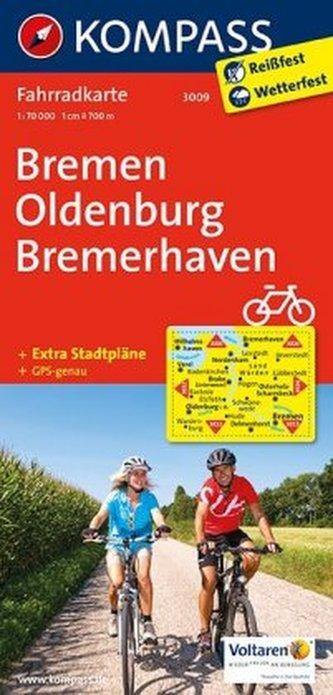 Kompass Fahrradkarte Bremen, Oldenburg, Bremerhaven