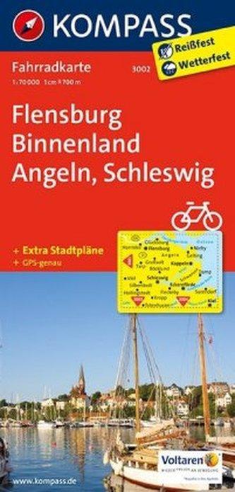Kompass Fahrradkarte Flensburg Binnenland, Angeln, Schleswig