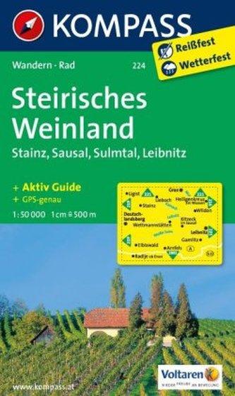Kompass Karte Steirisches Weinland