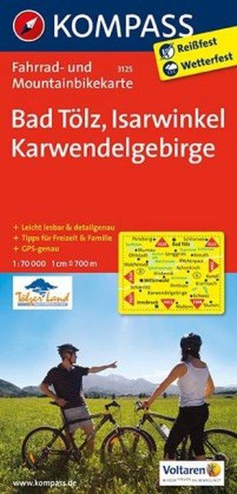 Kompass Fahrradkarte Bad Tölz - Isarwinkel - Karwendelgebirge