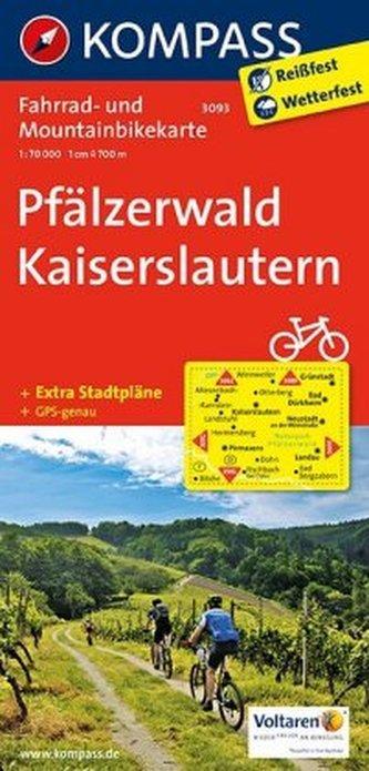 Kompass Fahrradkarte Pfälzerwald, Kaiserslautern