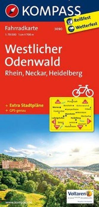 Kompass Fahrradkarte Westlicher Odenwald
