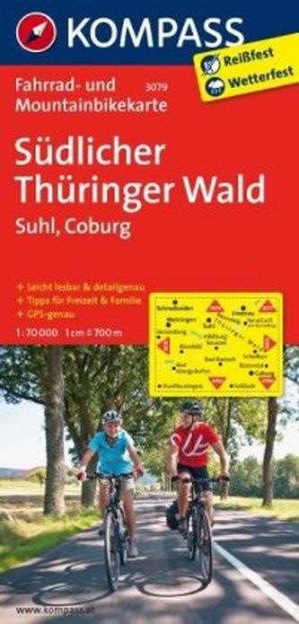 Kompass Fahrradkarte Südlicher Thüringer Wald
