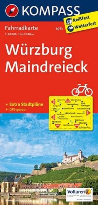 Kompass Fahrradkarte Würzburg, Maindreieck