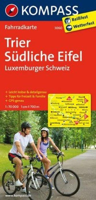 Kompass Fahrradkarte Trier, Südliche Eifel, Luxemburger Schweiz