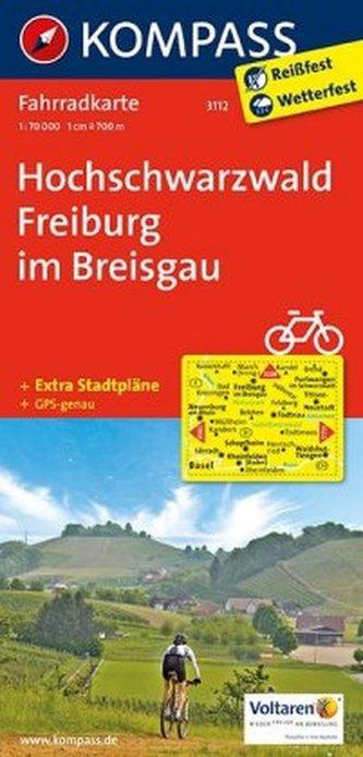 Kompass Fahrradkarte Hochschwarzwald, Freiburg im Breisgau