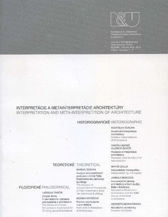 Architektúra a urbanizmus 1-2/2015