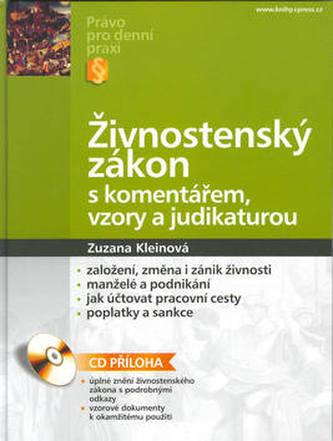 Živnostenský zákon s komentářem,vzory..