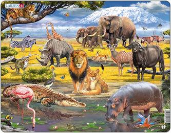 Puzzle MAXI - Zvířata africké savany/43 dílků