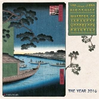 Nástěnný kalendář - Hiroshige - Masters of Japanese Woodblock Painting 2016