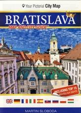 Bratislava mapa centra mesta