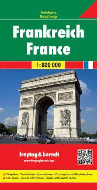 Freytag & Berndt Autokarte Frankreich. France. Frankrijk; Francia