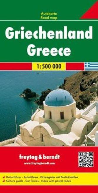 Freytag & Berndt Autokarte Griechenland. Griekenland. Greece; Grèce; Grecia