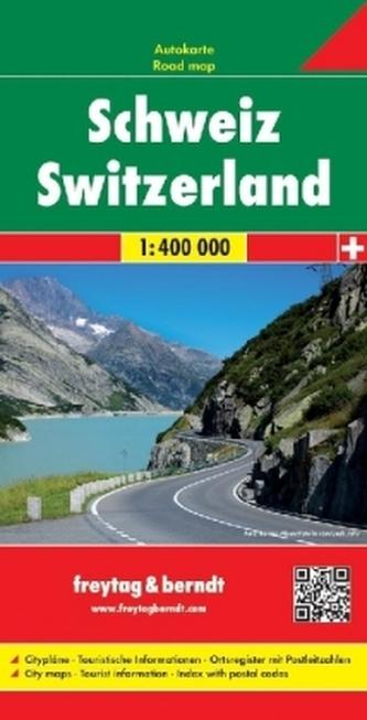 Freytag & Berndt Autokarte Schweiz. Suiza. Zwitserland. Switzerland. Suisse. Svizzera