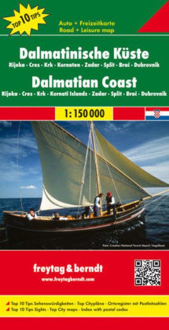 Freytag & Berndt Autokarte Dalmatinische Küste; Dalmatinski obala. Dalmatische kust; Dalmatian Coast. Cote Dalmatie; Costa dalma