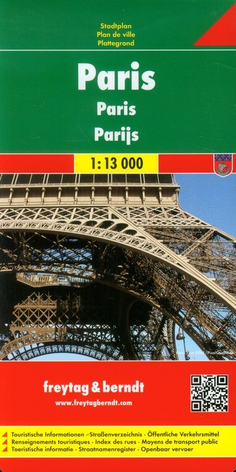 Freytag & Berndt Stadtplan Paris. Parijs. Parigi