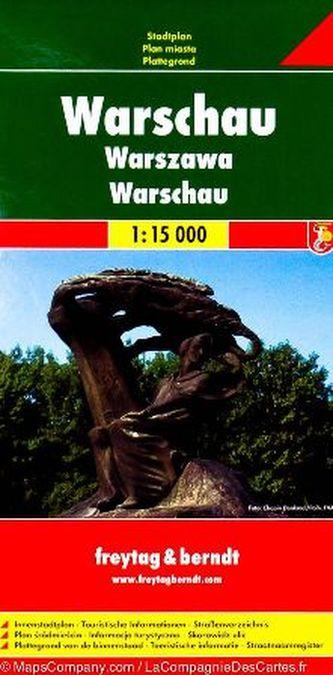 Plán města Varšava 1:15 000