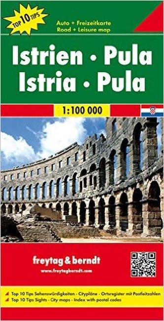 Automapa Istrie-Pula 1:100 000