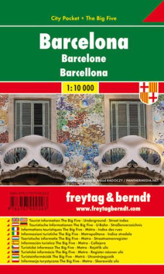 Freytag & Berndt Stadtplan Barcelona. Barcelone. Barcellona