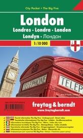 Freytag & Berndt Stadtplan London, City Pocket, Stadtplan1:10.000. Londres; Londra. Londen; Londyn