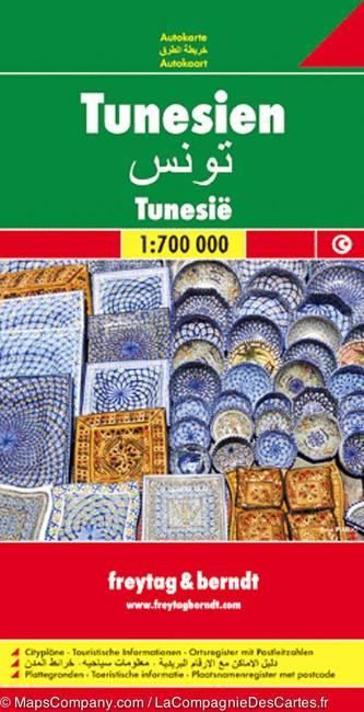 Automapa Tunisko 1:700 000