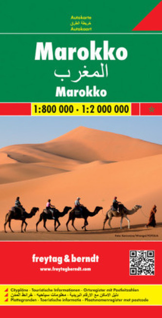 Maroko mapa 1:800 000 / 1:2 000 000 Freytag & Berndt