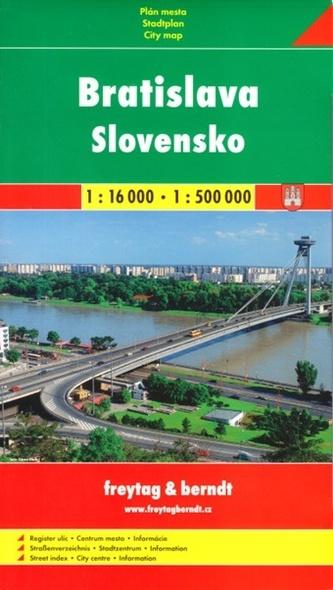Plán města Bratislava + Slovensko