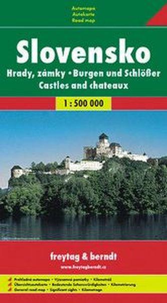 Automapa Hrady a zámky Slovenska měkká 1:500 000