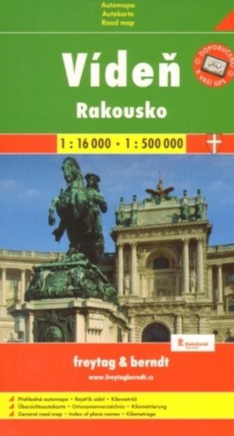 Automapa Vídeň + Rakousko 1:16 000/1:500 000