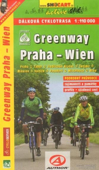 Cykloprůvodce Greenway Praha - Wien 1:110 000