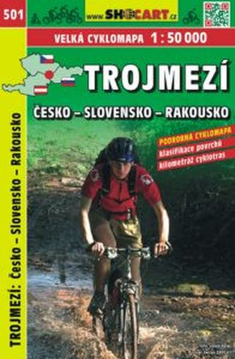 Trojmezí CZ-SK-A cyklomapa 1:50 000