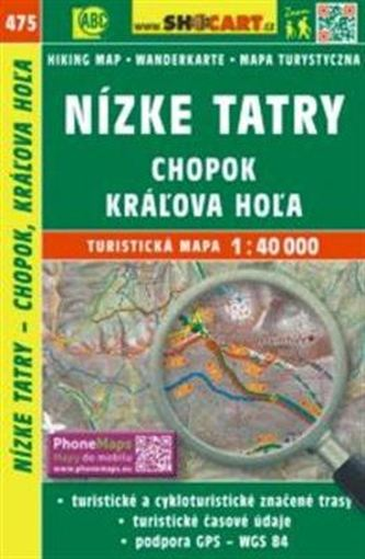 Nízké Tatry, Chopok, Káľova Hoľa 1:40 000 - SHOCart
