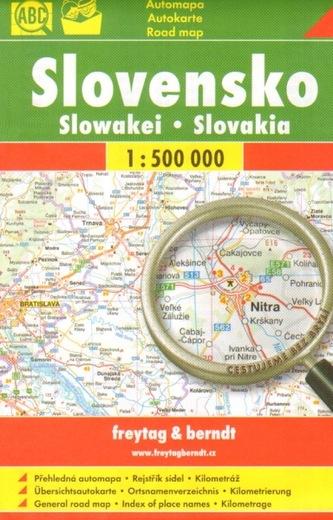 Automapa Slovensko 1:500 000 (cestujeme bez brýlí)