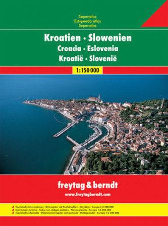 Autoatlas Chorvatsko-Slovinsko A4 atlas 1: 150 000