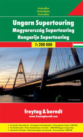 Freytag & Berndt Atlas Ungarn Supertouring. Magyarország Supertouring. Hongarije Supertouring