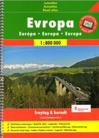 Autoatlas Evropa 1:800 000