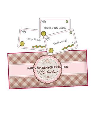 Karty splněných přání pro babičku