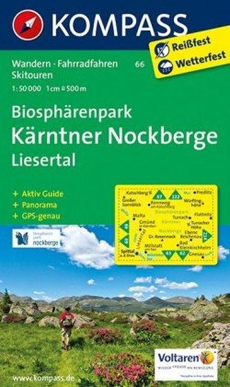 Kompass Karte Biosphärenpark Kärntner Nockberge - Liesertal