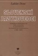 Slovenskí jazykovedci