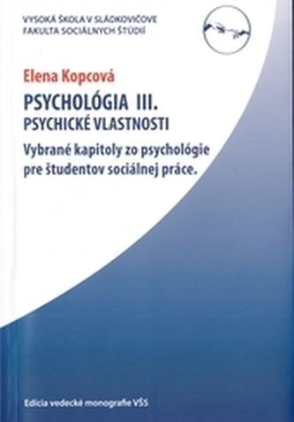 Psychológia III.