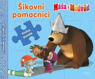 Máša a medvěd - Šikovní pomocníci (kniha s puzzle) - Animaccord