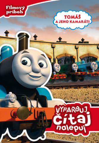 Tomáš a jeho kamaráti  Vyfarbuj, čítaj, nalepuj