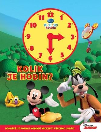 Mickeyho klubík - Kolik je hodin (kniha s hodinami)