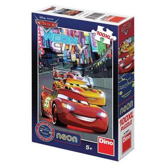 Auta - Neon puzzle 100 XL dílků