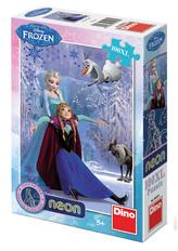 Ledové království - Neon puzzle 100 XL dílků